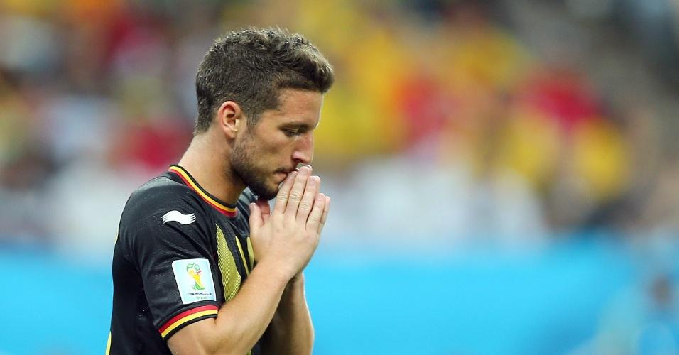 Mertens lamenta após perder boa chance de abrir o placar para a Bélgica contra a Coreia do Sul
