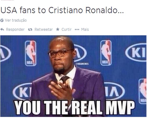Para os torcedores dos Estados Unidos, não há dúvidas: Cristiano Ronaldo é o verdadeiro melhor do mundo, MVP (jogador mais valioso) e tudo mais que tenha direito