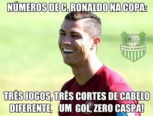 Pelo menos o Cristiano Ronaldo terminou a Copa livre da caspa