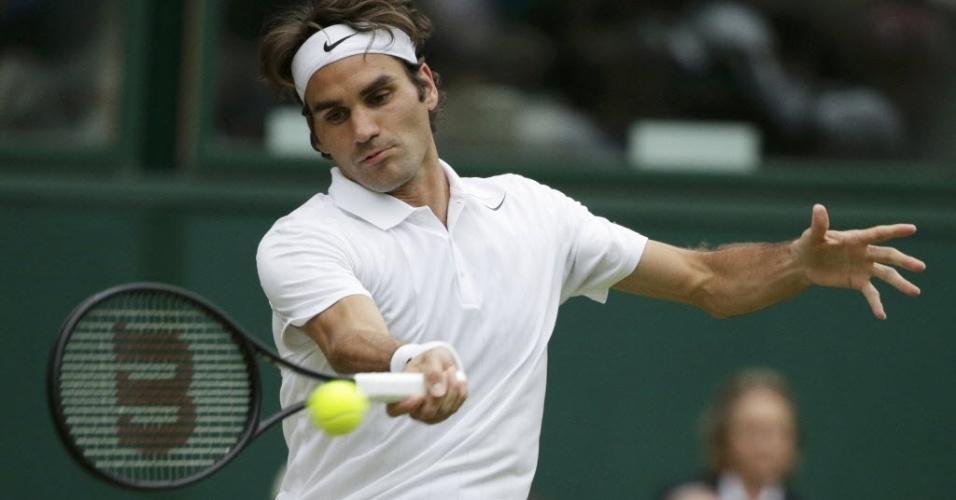 Roger Federer enfrenta o luxemburguês Gilles Muller em Wimbledon