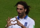 Samaras: o garoto que vibrou com a Euro-2004 virou o líder da Grécia-14 - CHRISTOPHE SIMON/ AFP PHOTO
