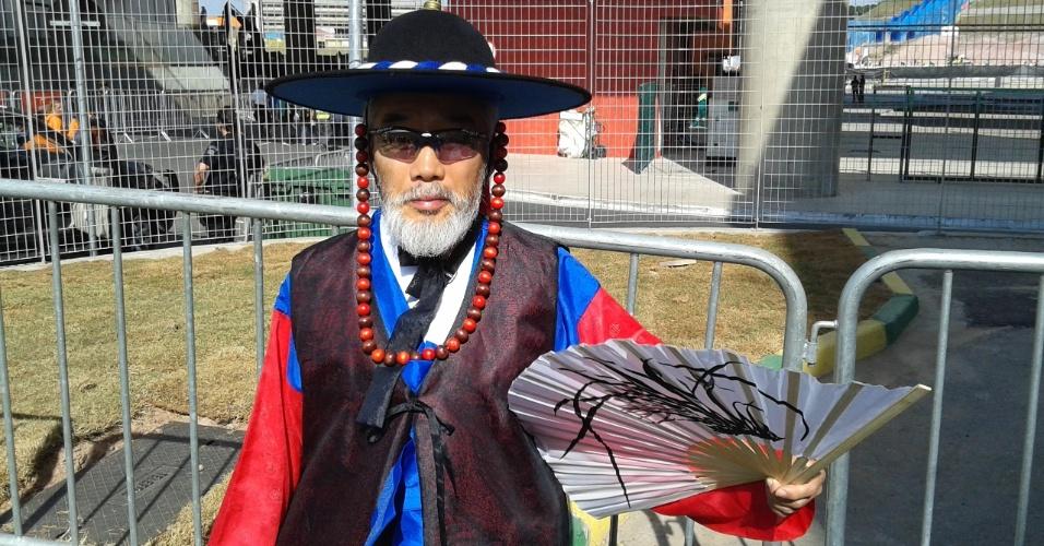 Sul-coreano chega à região do Itaquerão, antes da partida contra a Bélgica