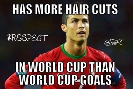 """""""Tem mais cortes de cabelo do que gols na Copa do Mundo"""""""