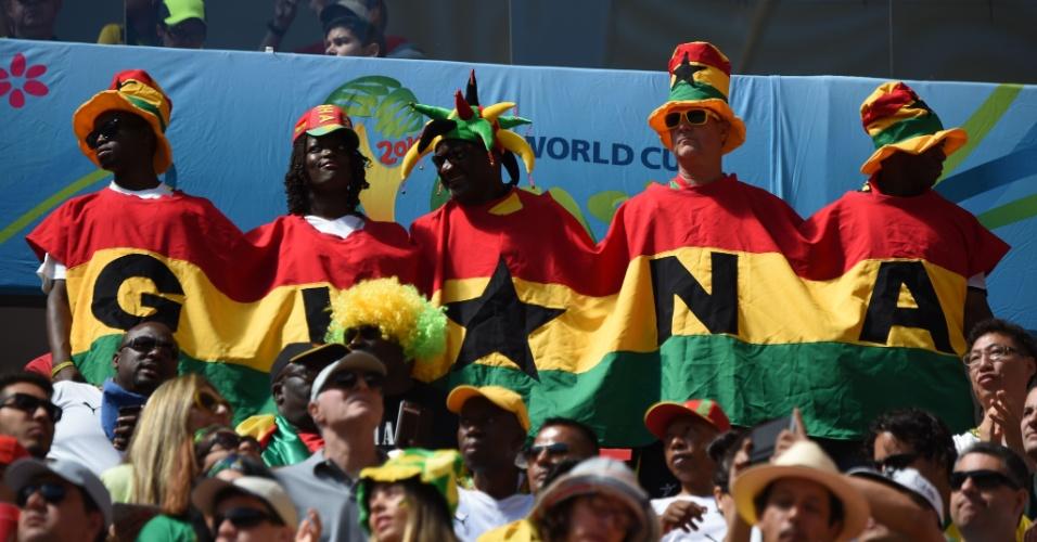 Torcedores de Gana marcam presença no Mané Garrincha para o jogo de vida ou morte contra Portugal