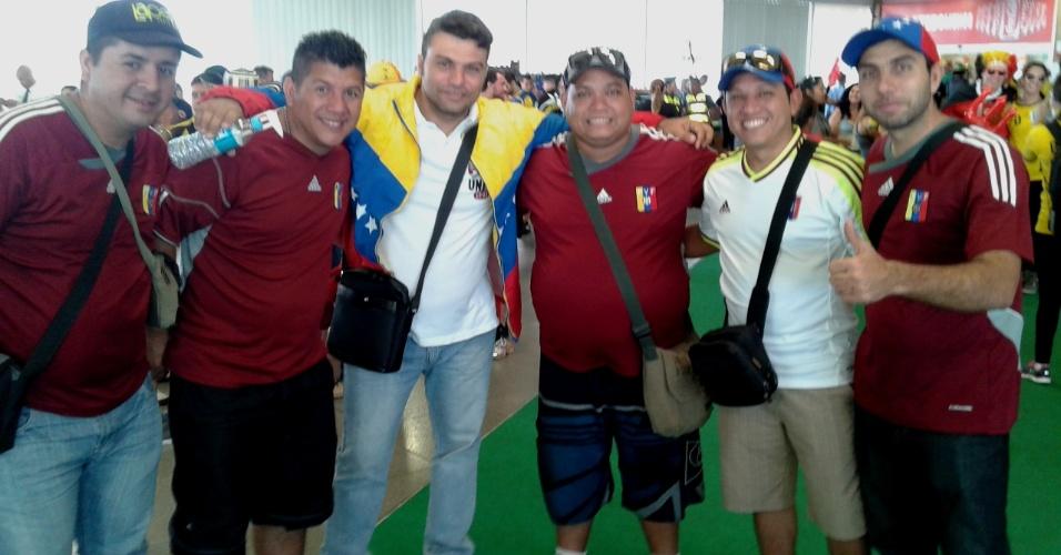 Torcedores venezuelanos vão acompanhar a partida entre Coreia do Sul e Bélgica, no Itaquerão
