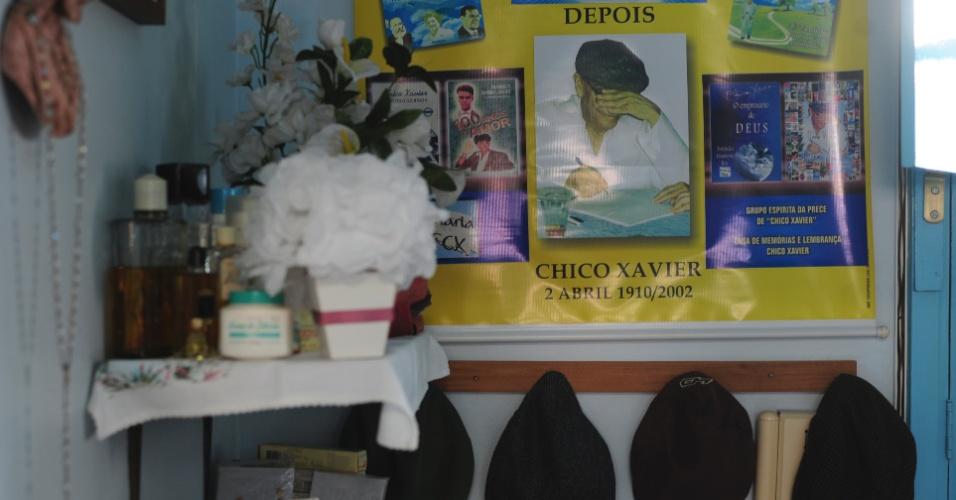 Última casa de Chico Xavier guarda objetos pessoais do médium, expostos para os visitantes
