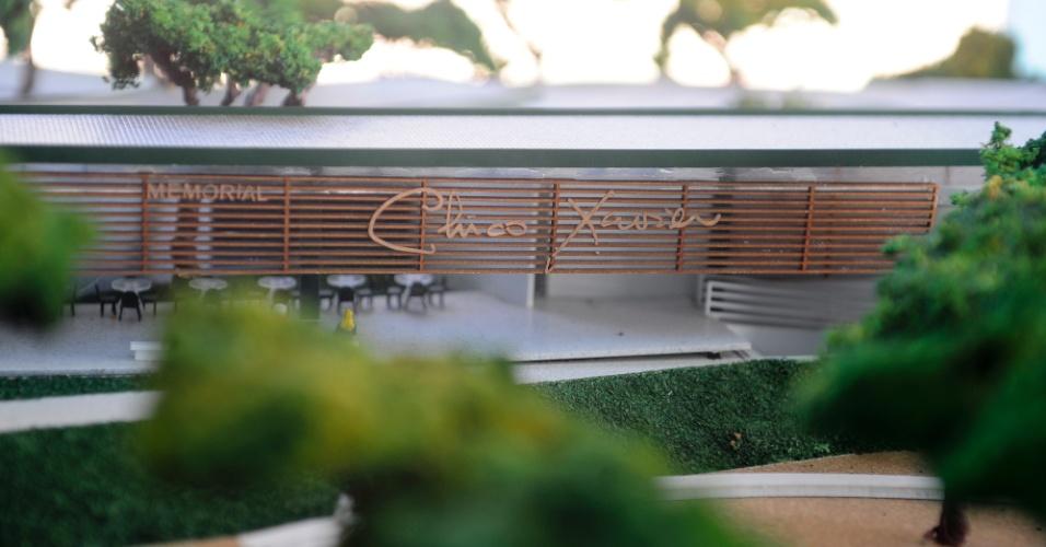 Maquete do Memorial Chico Xavier - obra deve estar concluída no começo de 2015