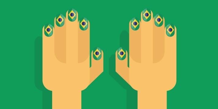 Unhas brasileiras no Google Trends