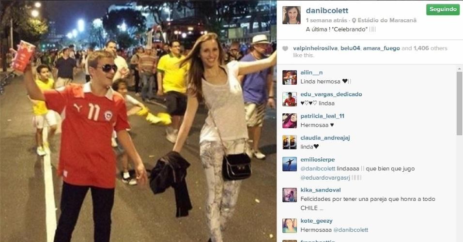 Daniela Colett curte vitória chilena