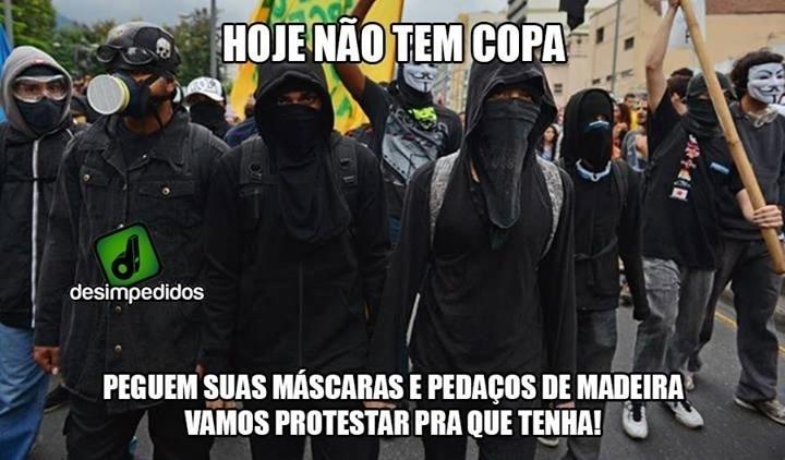 Hoje não tem Copa. Vamos protestar para que tenha!