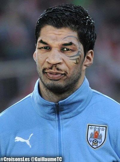 Internautas criaram versão Suárez Tyson após mordida de uruguaio