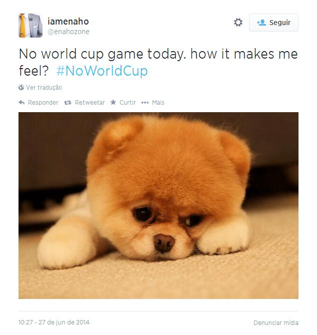 Sem jogo da Copa do Mundo hoje. Como me sinto com isso?