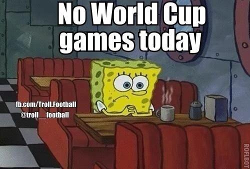 Sem jogos da Copa do Mundo hoje