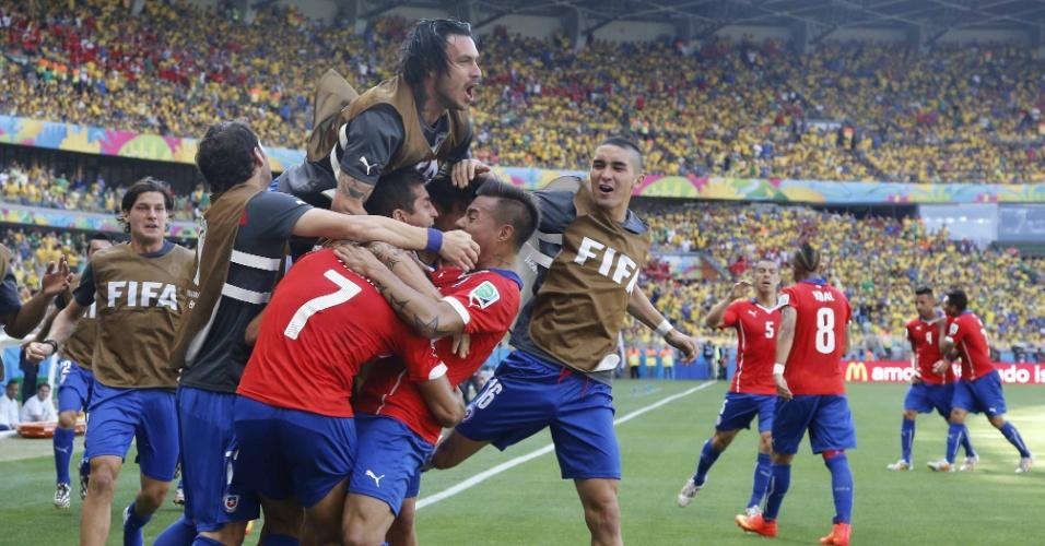 Alexis Sánchez marca para o Chile e deixa tudo igual no placar contra o Brasil no Mineirão