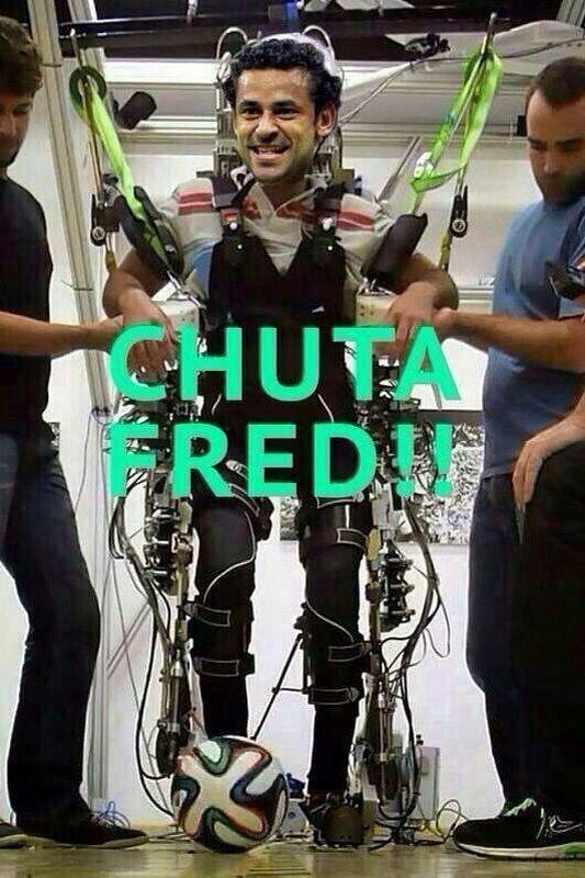 """Exoesqueleto lança a campanha """"Chuta Fred"""""""