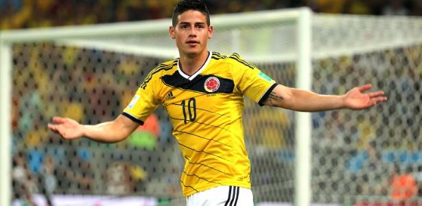 James fez cinco gols, mas parou no Brasil nas quartas de final da Copa