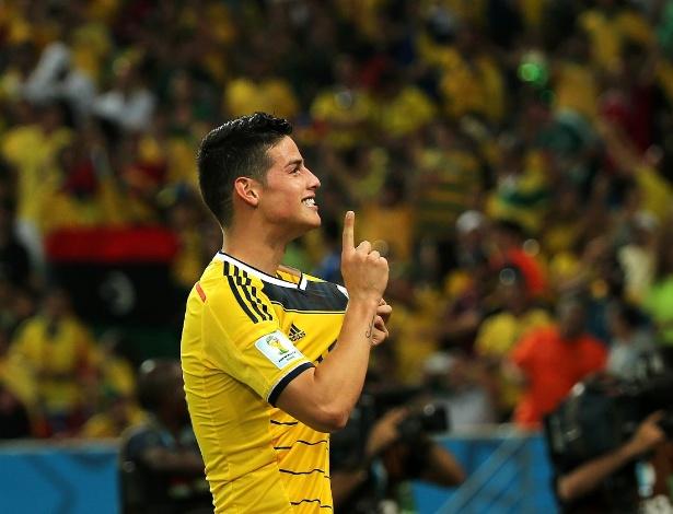 Jamez Rodríguez é o grande destaque da seleção da Colômbia na Copa do Mundo do Brasil