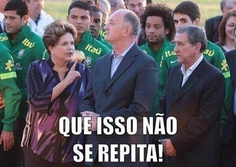 Jogo contra o Chile faz Dilma dar uma bronca no Felipão