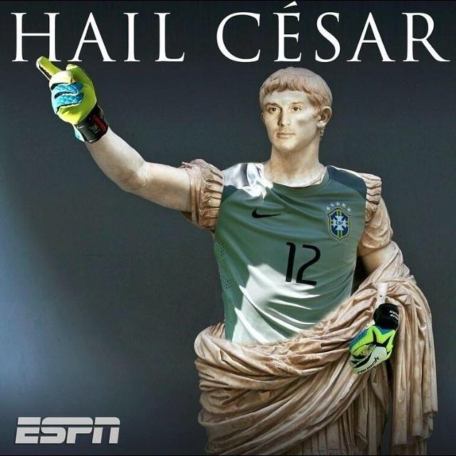 Júlio César, o imperador do Brasil no drama contra o Chile