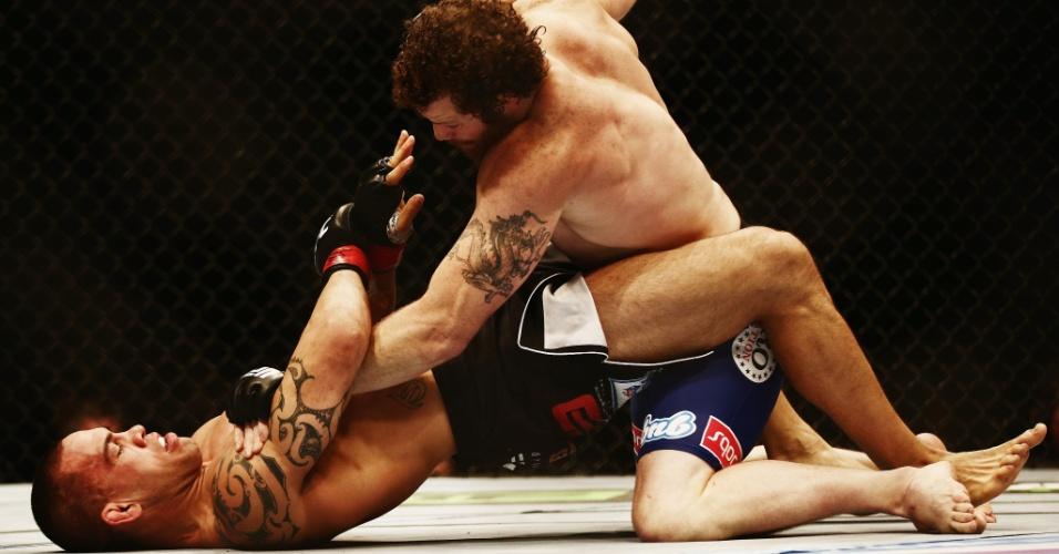 Nate Marquardt finalizou James Te Huna ainda no primeiro round no UFC Nova Zelândia
