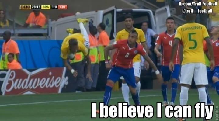 Neymar acredita que pode voar