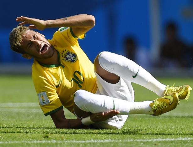 Neymar assegurou que superou as dores das pancadas no joelho recebidas contra o Chile
