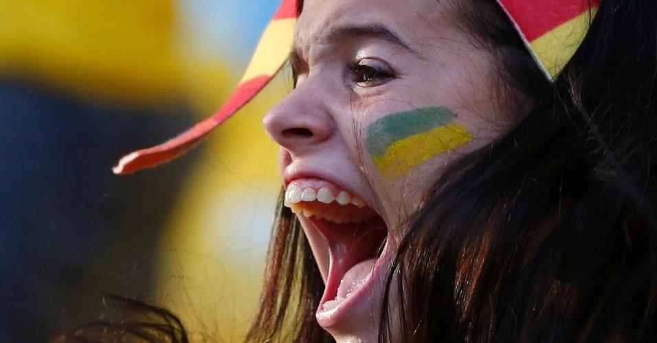 Reação dos torcedores: gritos no Mineirão