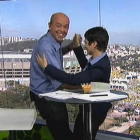 Sandra Annenberg e Alex Escobar estarão juntos durante as transmissões da Copa - Reprodução / TV Globo