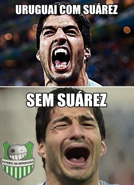 Sem Suárez, Uruguai fica sem dentes