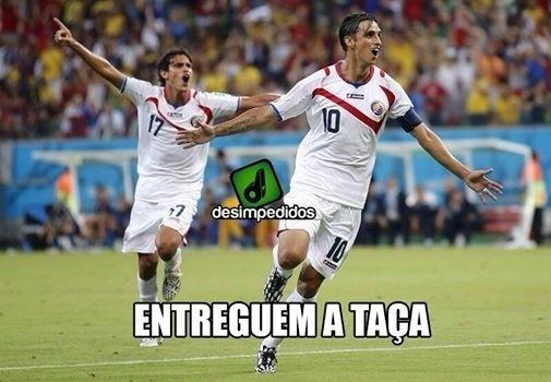 A Costa Rica está nas quartas de final da Copa, e já tem gente pensando em título