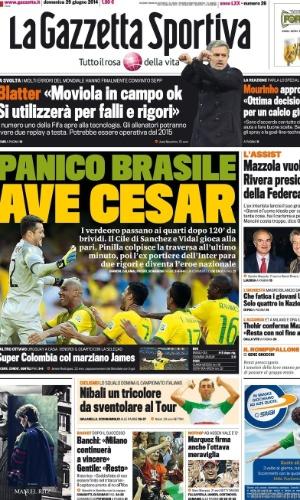 """""""Ave Cesar"""", saudou o La Gazzetta dello Sport"""