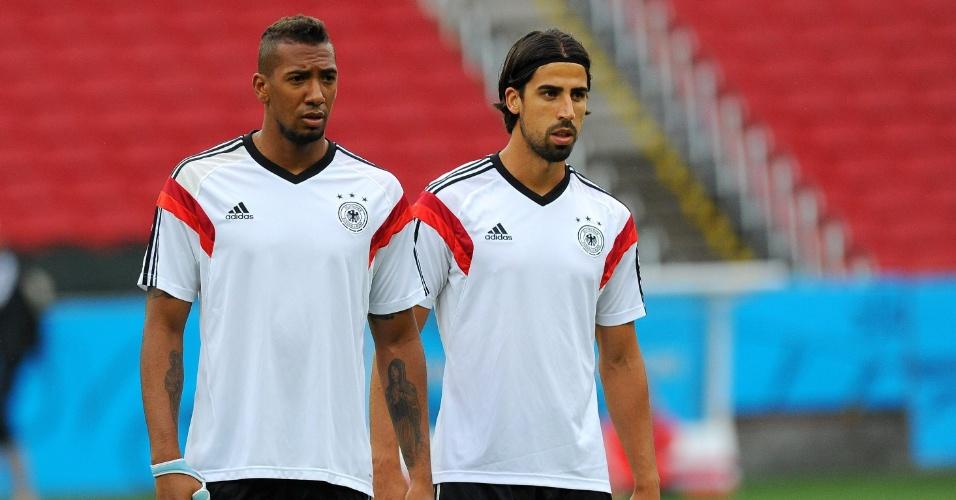 Boateng e Khedira participam de treino da Alemanha, no Beira-Rio, palco de Alemanha x Argélia nesta segunda-feira