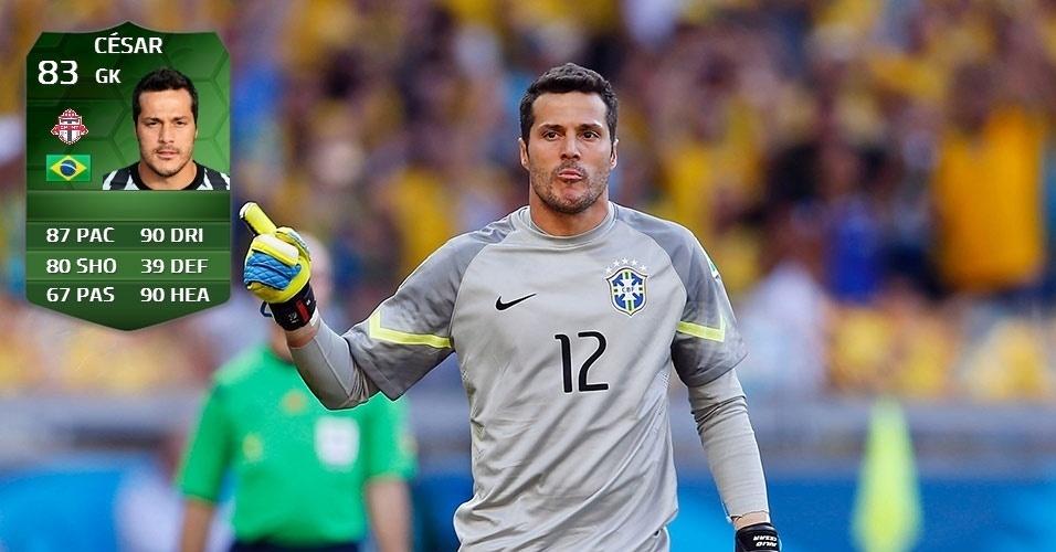 Brasil 1 x 1 Chile: Júlio César (82 para 83)