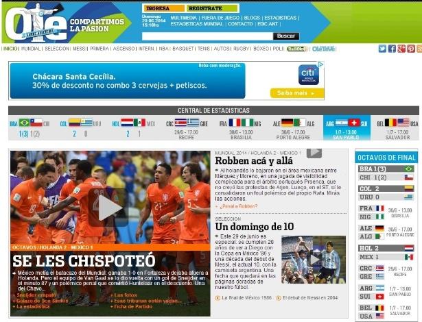 """""""É que os escapuliu"""": jornal Olé brinca com mexicanos após derrota para a Holanda"""