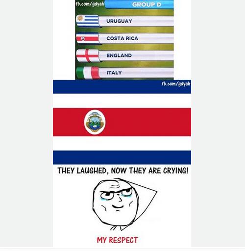 """""""Eles riram. E agora estão chorando"""". Costa Rica é a única sobrevivente do grupo da morte na Copa"""