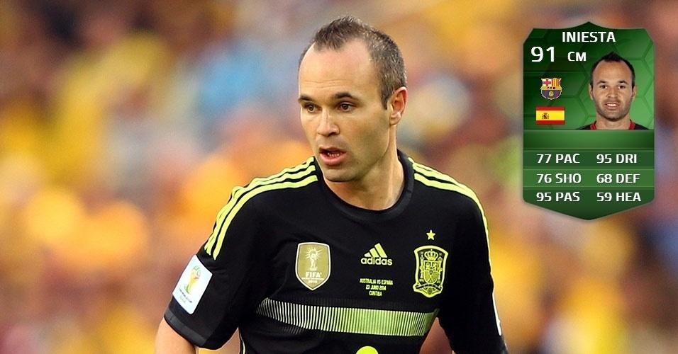 Espanha 3 x 0 Austrália: Iniesta (89 para 91)