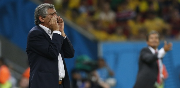 Fernando Santos foi expulso em jogo contra a Costa Rica, pelas oitavas de final da Copa