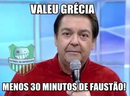 Gol marcado pela Grécia acabou diminuindo a duração do programa de Fausto Silva