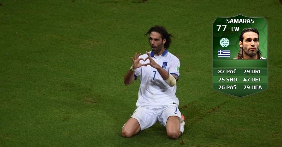 Grécia 2 x 1 Costa do Marfim: Georgios Samaras (70 para 77)