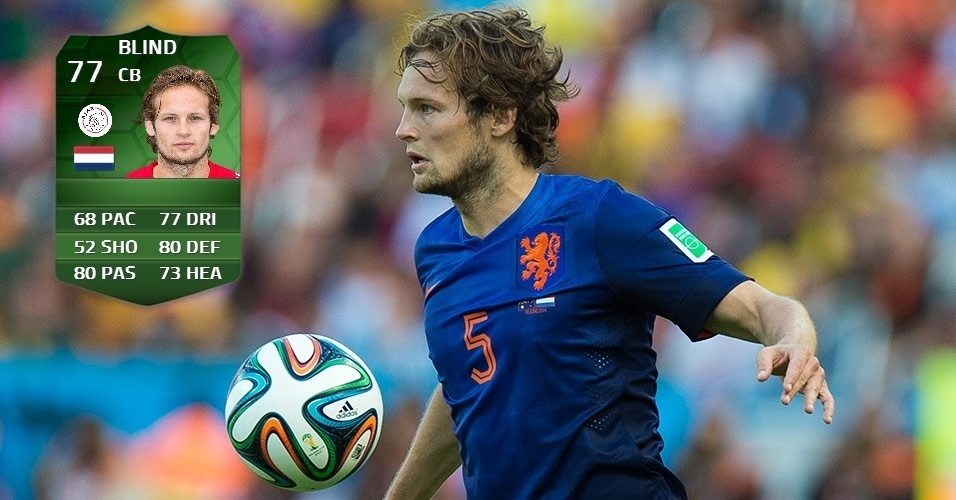 Holanda 2 x 0 Chile: Daley Blind (75 para 77)