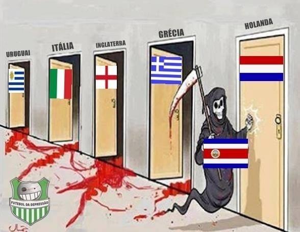 Internautas já estão prevendo encontro da Costa Rica com a Holanda