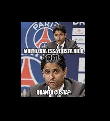 Já tem interessado nos jogadores da Costa Rica