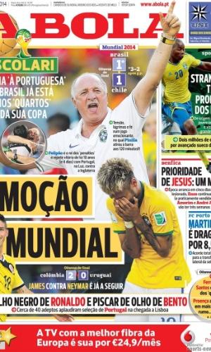 """Jornal A Bola lembrou as classificações sofridas de Felipão quando era técnico de Portugal: """"Scolari ganha à portuguesa"""""""