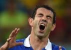 Capitão da Grécia, Karagounis deixa a seleção após eliminação na Copa - AFP PHOTO / PEDRO UGARTE
