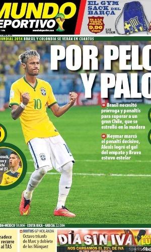 Mundo Deportivo destacou que a classificação brasileira acabou por pouco, nos detalhes, com bolas na trave na prorrogação e nos pênaltis