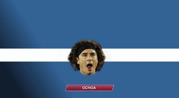 Ochoa brilhou mais uma vez, mas não foi suficiente para evitar a eliminação mexicana