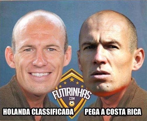 Robben não ficou muito feliz em saber o próximo adversário da Holanda