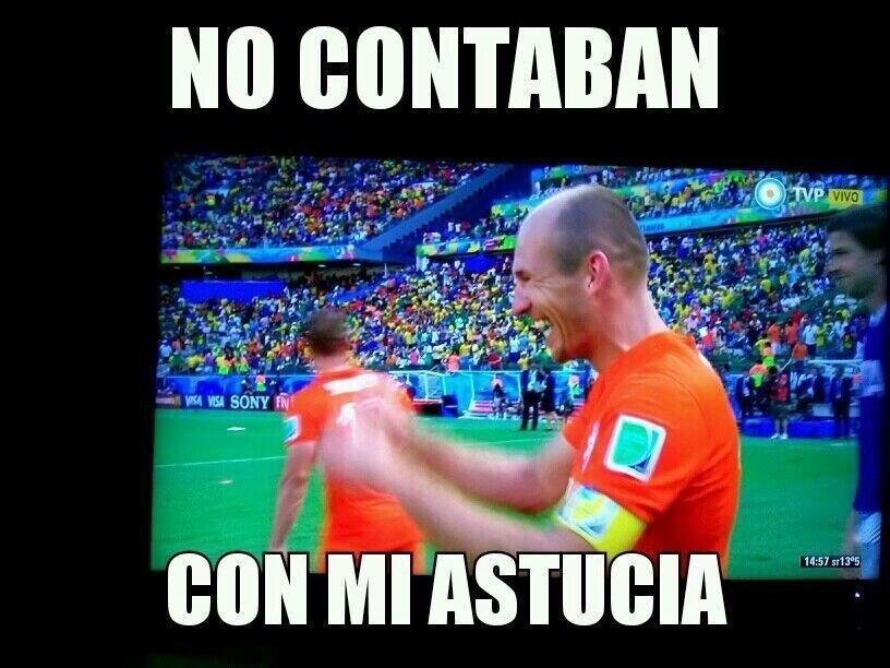 """Robben se apropria da famosa frase de Chapolin: """"Não contavam com minha astúcia"""""""