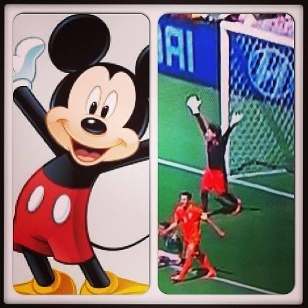 Seria o Mickey Mouse no gol do México?