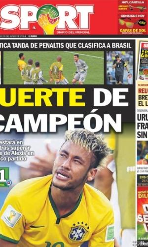 """""""Sorte de Campeão"""", estampou o Sport, com Neymar como maior destaque do Brasil"""